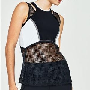 Tonic Active Aporia White and Mesh Activewear Tank